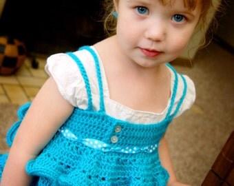 Cute Crochet Shirt Pattern - Emmaline Shirt with Ruffles - baby, child, custom sizes - PDF pattern - Instant Download