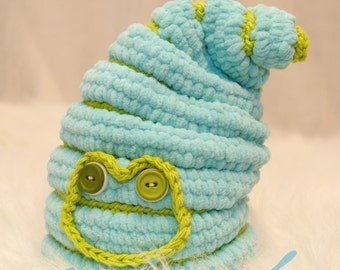 Cute Crochet Hat Pattern - Frog Suess Newborn Hat -  birth to 3 month size - PDF pattern - Fun Photography Prop - Instant Download