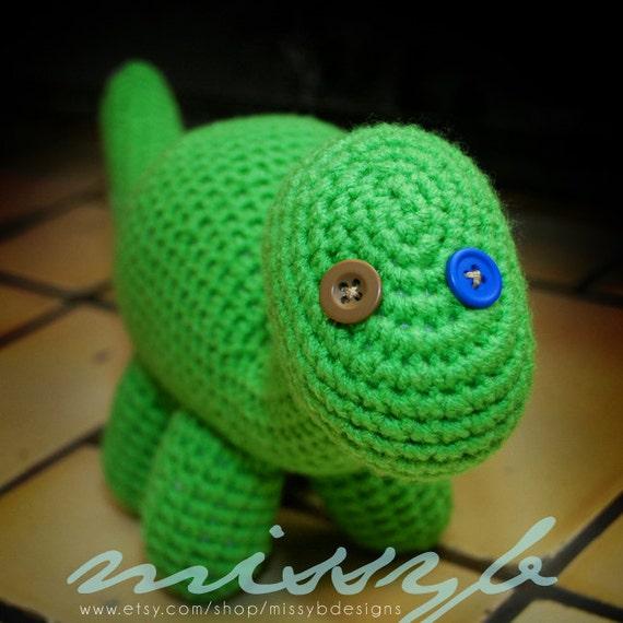 Cute Crochet Dinosaur Pattern - Amigurumi Pattern - Stuffed Long Neck Dinosaur Toy - PDF Pattern - Instant Download