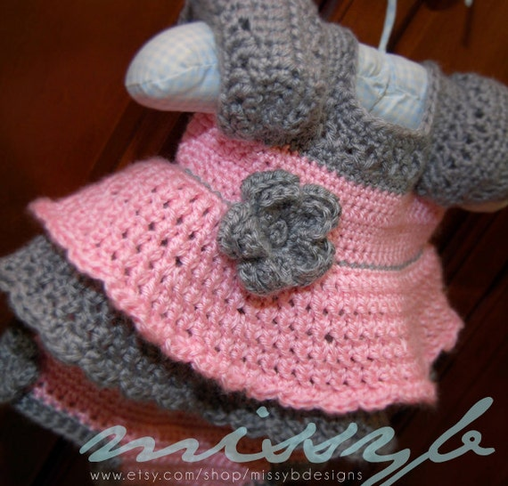 Crochet Dress Pattern - Millie Ann Dress and Bloomers - Baby, Toddler, Child, Custom Sizes - PDF pattern - Instant Download