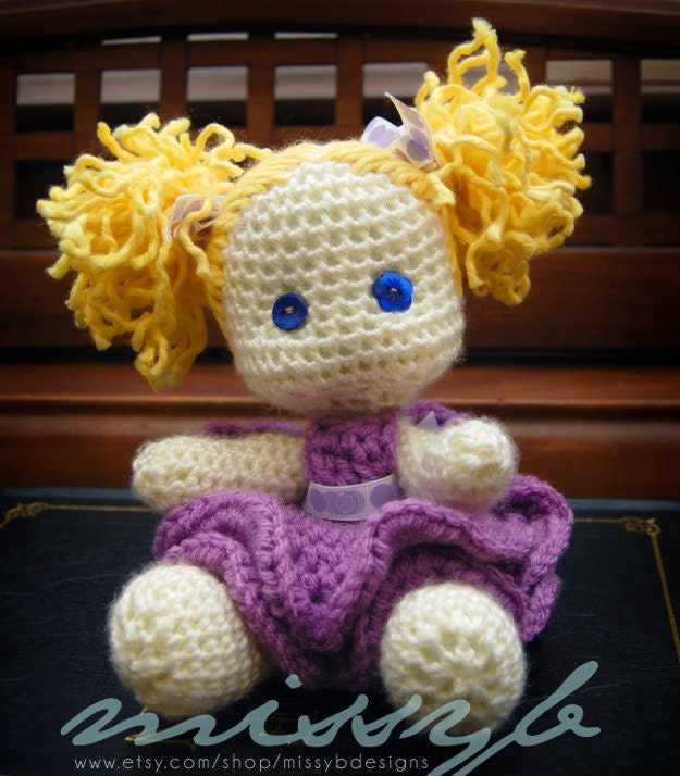 Crochet Doll Pattern Cute : Cute Crochet Doll Pattern Little Lexi Doll PDF by ...