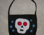 Beginner's Luck - Happy Skull Eco Felt Shoulder Bag