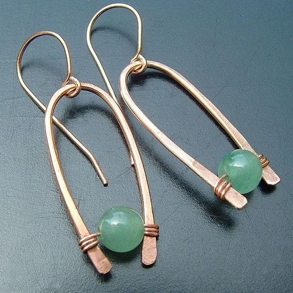 Sears Canada Wedding Gift Registry: Items Similar To Modern Hoop Earrings Inverted Hoops Green