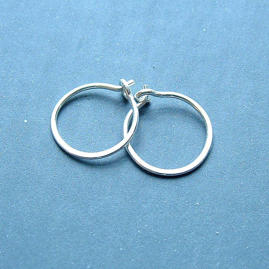 small hooped earrings small sterling silver hoop earrings handmade silver hoops eco 8679