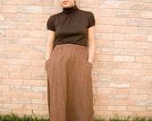 vintage brown wool skirt.