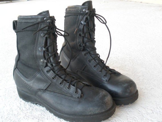 Popular 2015 Unisex Men Women Ladies Motorcycle Boots Vintage Combat Army Punk Ankle Shoes Biker Genuine ...