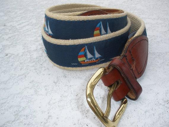 Vintage belt sailboats size large