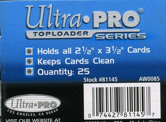 25 ACEO Toploader semi-rigid sleeves for card protection.