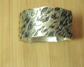 Sterling Silver Textured Stackable Ring size 10 1/2