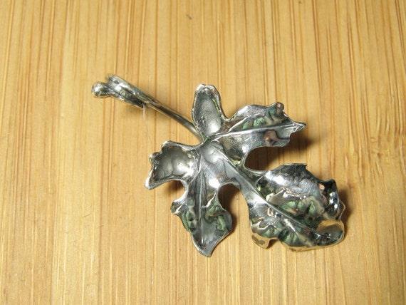 Simple Sterling Silver Fig Leaf Pendant