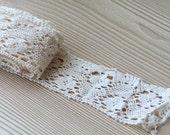 Cream Flower Lace - 1 Yard - Half Price