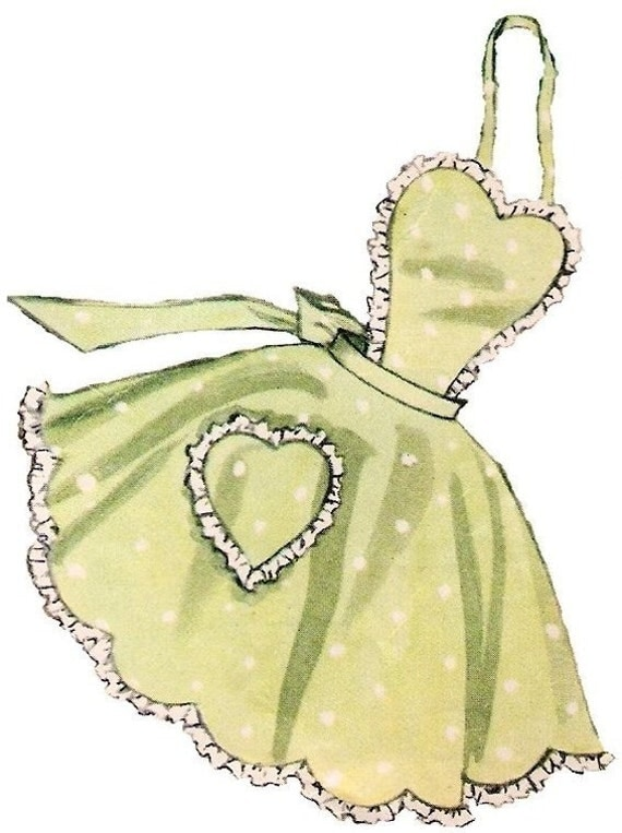 Vintage Full Apron Pattern 50s on PDF No 16 Now Available in