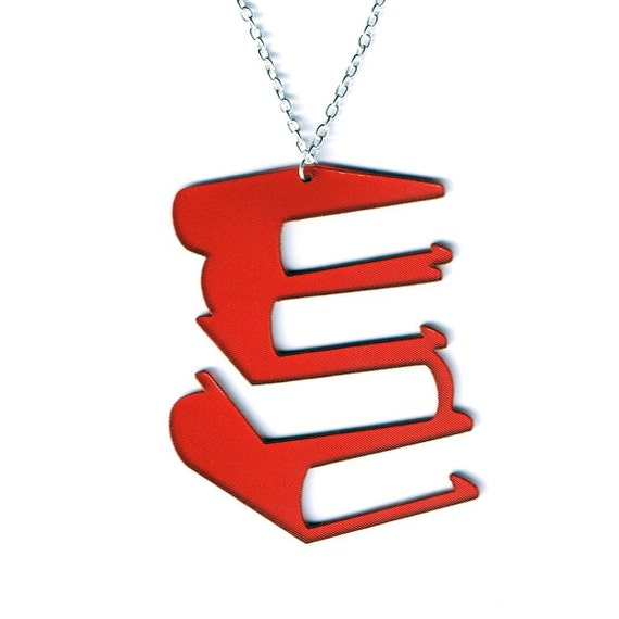 Vinyl record necklace - red Hardcover