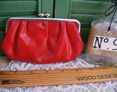 Vintage Lg Red Coin Purse Wallet