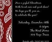 Classic Red and Black Party Invitation