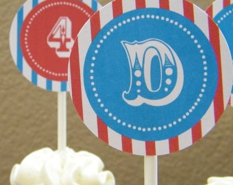 Circus Printable Party Circles