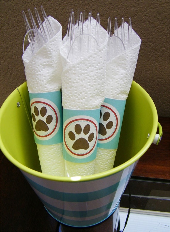 Puppy Paw Printable Napkin Rings