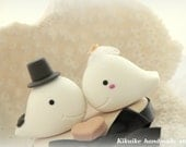 Whales Wedding Cake Topper---k631