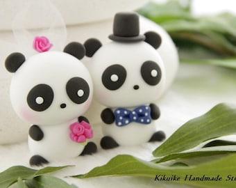 Panda  Wedding Cake Topper---k929
