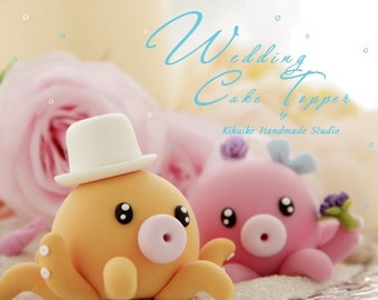 octopus Wedding Cake Topper---k603