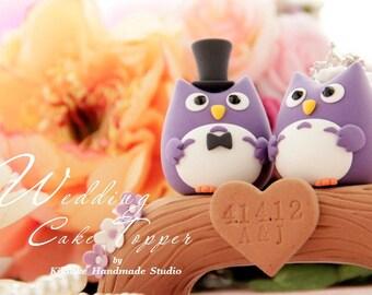 Owls  Wedding Cake Topper---k532