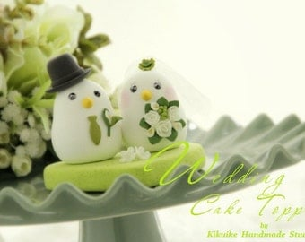 birds Wedding Cake Topper-love bird with sweet heart base (K324)
