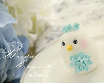 birds Wedding Cake Topper-love bird with sweet heart base (K307)