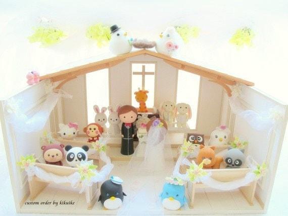 Custom Order Wedding Cake Topper ,Wedding products and Wedding dollhouse