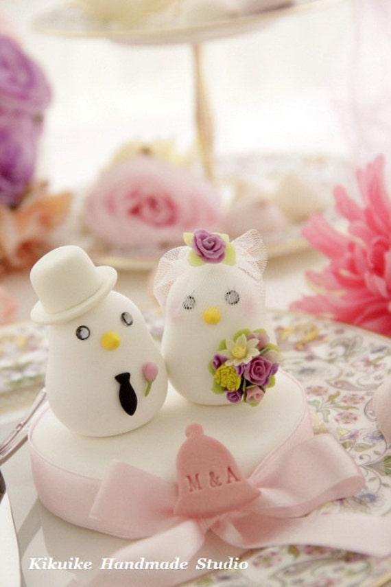 birds Wedding Cake Topper-love bird with base (K309)