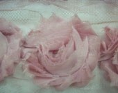 Shabby Pink Color, Roses, Trim,1 Yard, 13-15 Roses in a Yard,