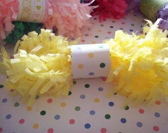 Lemon Custard Tissue Garland