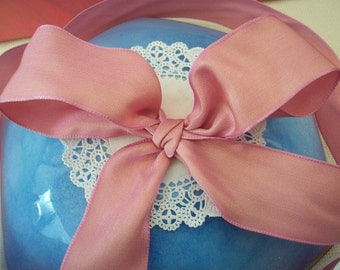 "1.5"" Wide Wired Silk Grosgrain Pink"