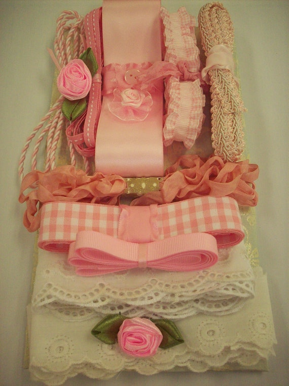 Vintage Lace and Ribbons,Trims and Handmade Flowers from my Shabby and Chic Collection