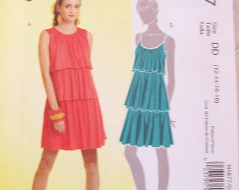 Misses Dress Pattern for Summer - NEW - Size DD (12-18)