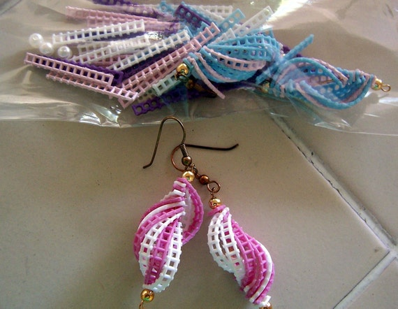 Dangle Plastic Earrings and Supplies to make more