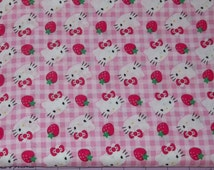 Strawberry Hello Kitty Fabric By The Yard FBTY