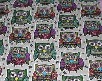 Groovy Owl Fabric By The Yard