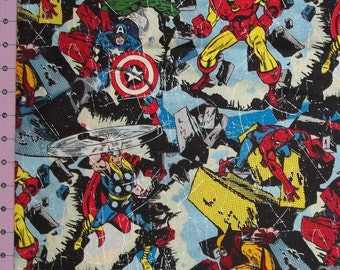 Marvel Comic Action Hero Fabric By The Yard FBTY