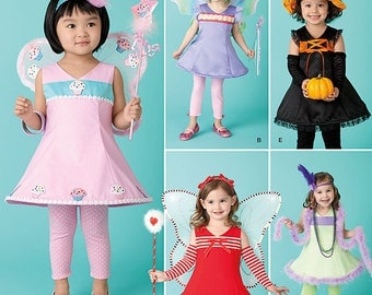 Cute Halloween Costume Patterns Simplicity 2073 Size A 6 months 1 2T 3T 4T