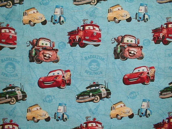 Disney Cars Fabric Remnant 32""