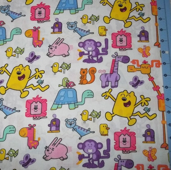 Reserved Listing Wow Wow Wubbzy Fabric By The Yard FBTY