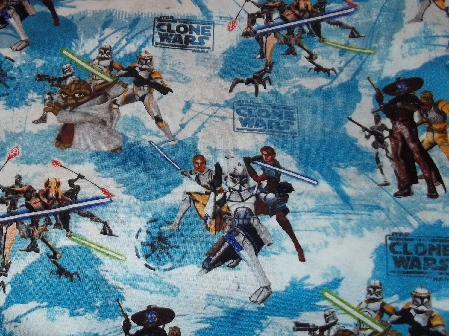 Star wars clone wars fabric by the yard for Star wars fabric