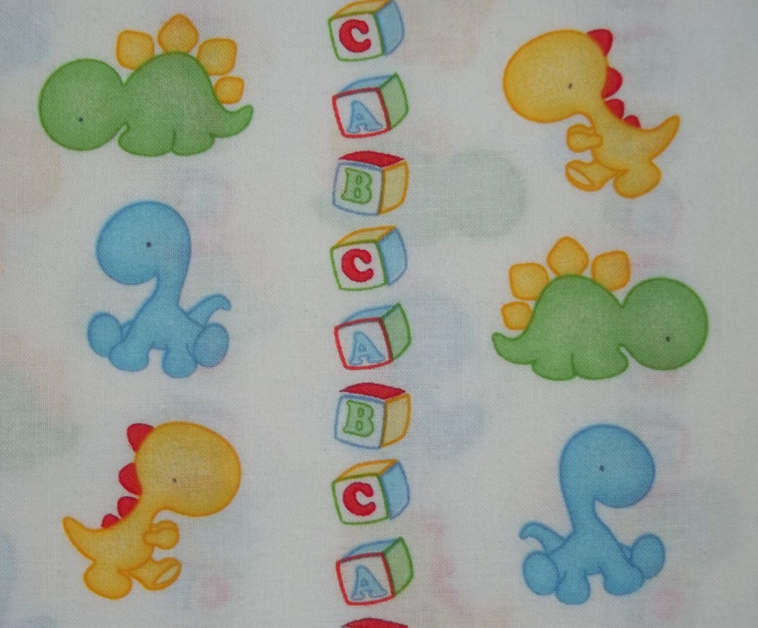 Baby dinosaur fabric by the yard bty for Dinosaur fabric