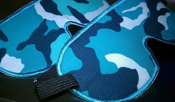 Adjustable Aqua Camo Sleeping Mask