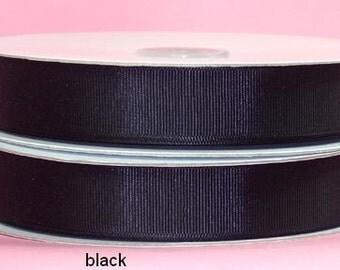 5/8 x 50 yds GROSGRAIN RIBBON - BLACK