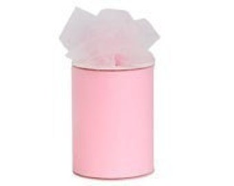 6 inch x 75 ft nylon tulle roll- LT PINK   (only 1.80 per roll)