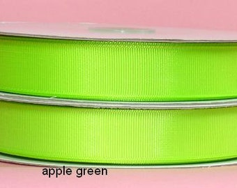7/8 inch x 25 yds grosgrain ribbon  APPLE GREEN