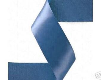 7/8 x 100 yds Double Face Satin --- Antique Blue