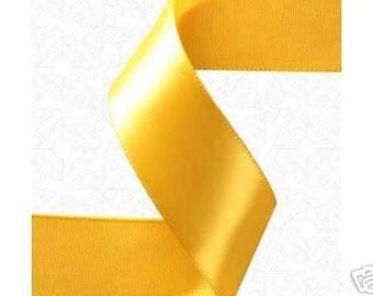 7/8 x 100 yd Single Face Satin Ribbon --- LIGHT GOLD