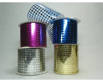 """Honeycomb(Punchinello) 3-1/2"""" x 50 yds-Silver or Your Choice of 11 colors"""